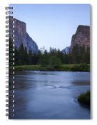 Yosemite Twilight Spiral Notebook
