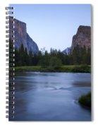 Yosemite Twilight Spiral Notebook