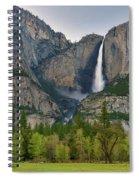 Yosemite Upper And Lower Falls Spiral Notebook