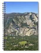 Yosemite Valley Panorama From Union And Glacier Points Spiral Notebook