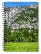Yosemite West Valley Meadow Panorama #2 Spiral Notebook