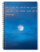You Are My Moon Spiral Notebook