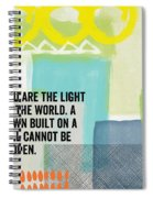 You Are The Light- Contemporary Christian Art By Linda Woods Spiral Notebook