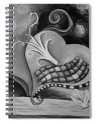 You Caught My Heart Black White Spiral Notebook