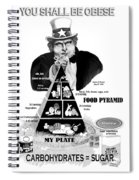 You Shall Be Obese By Fat Uncle Sam Spiral Notebook
