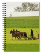 Young Amish Farmer Spiral Notebook