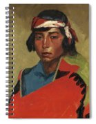Young Buck Of The Tesuque Pueblo Spiral Notebook