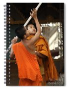 Young Buddhist Monks Laos Spiral Notebook