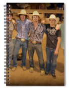 Young Bull Riders Portrait Spiral Notebook
