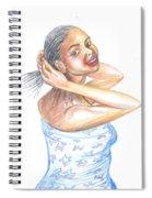 Young Cameroun Woman Tying Her Hair Spiral Notebook