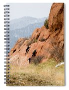 Young Climber In Red Rock Canyon Spiral Notebook