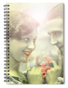 Young Couple Flirting Spiral Notebook
