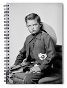Young Cowboy Sitting Spiral Notebook
