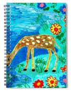 Young Deer Drinking Spiral Notebook