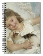 Young Girl And Cat Spiral Notebook