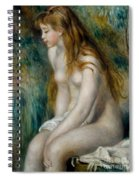 Young Girl Bathing, 1892 Spiral Notebook