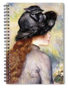 Young Girl Holding A Bouquet Of Tulips, Spiral Notebook