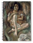 Young Girl In An Armchair Spiral Notebook