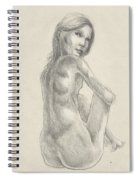 Young Girl In The Sun Spiral Notebook