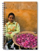 Young Girl Selling Rose Petals In The Medina Of Fes Morroco Spiral Notebook