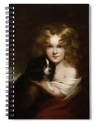 Young Girl With A Dog Spiral Notebook