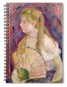 Young Girl With A Fan Spiral Notebook