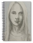 Young Girl With Long Hair Spiral Notebook
