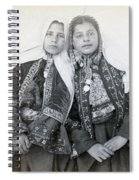Young Girls Of Bethlehem Year 1896 Spiral Notebook