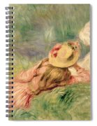Young Girls On The River Bank Spiral Notebook