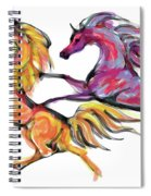 Young Horses Playing Spiral Notebook