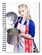 Young Housewife Lifting Lid On A Home Cooking Pot Spiral Notebook