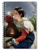 Young Italian At The Well Spiral Notebook
