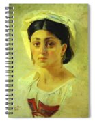 Young Italian Woman In A Folk Costume Study Spiral Notebook