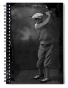 Young Knickerbocker Golfer Spiral Notebook