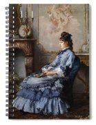 Young Lady At The Fireplace Spiral Notebook