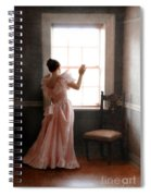 Young Lady In Pink Gown Looking Out Window Spiral Notebook