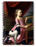 Young Lady With A Bird And A Dog Spiral Notebook