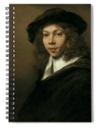 Young Man In A Black Beret Spiral Notebook