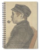 Young Man With A Pipe Nuenen, March 1884 Vincent Van Gogh 1853 - 1890 Spiral Notebook