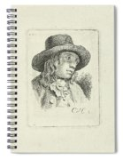Young Man With Hat Spiral Notebook
