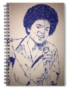 Young Michael Jackson Spiral Notebook