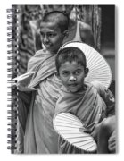 Young Monks 2 Bw Spiral Notebook