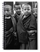 Young Monks II Bw Spiral Notebook