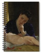 Young Mother Child Contemplating Adolphe William Bouguereau Spiral Notebook