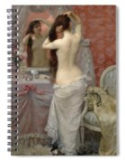 Young Nude Woman Styling In An Interior Spiral Notebook