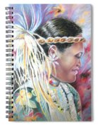 Young Polynesian Mama Spiral Notebook