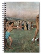 Young Spartans Exercising Spiral Notebook