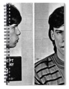 Young Steven Tyler Mug Shot 1963 Pencil Photograph Black And White Spiral Notebook