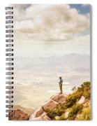 Young Traveler Looking At Mountain Landscape Spiral Notebook