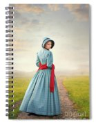Young Victorian Woman On A Country Path Spiral Notebook